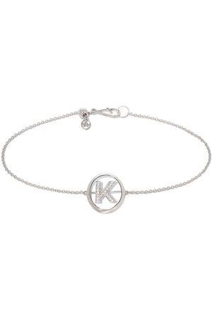 ANNOUSHKA 18ct White Gold Diamond Initial K Bracelet
