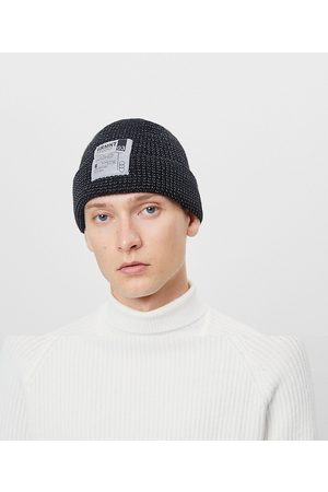 Bershka Beanie with patch in black