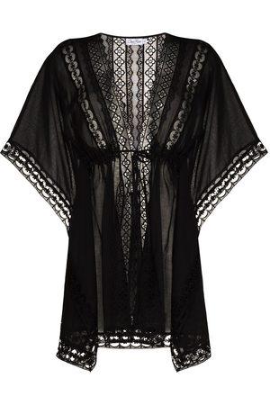 CHARO RUIZ IBIZA Ženy Tuniky - Embroidered detail tied waist cover-up
