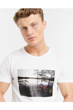 Knowledge Cotton Apparal Organic cotton photo t-shirt in white