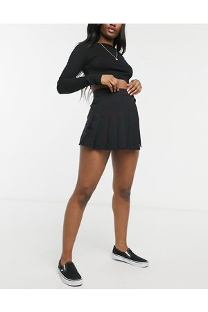 ASOS Skort with pleated front in black