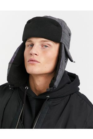 SVNX Puffer trapper hat in reflective fabric-Multi