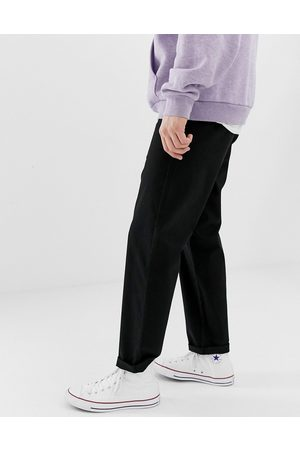 ASOS Relaxed skater chinos in black