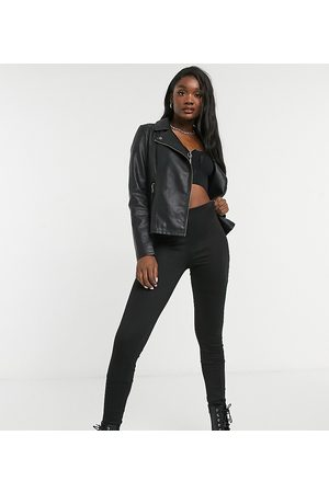 Only Faux leather jacket in black