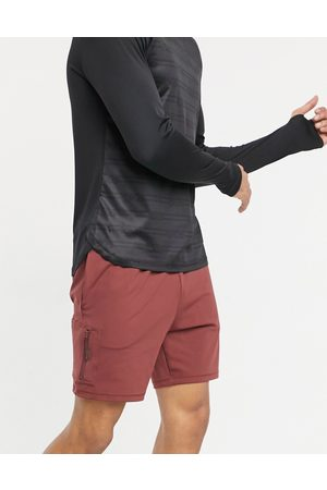 ASOS Skinny training shorts with pocket-Red