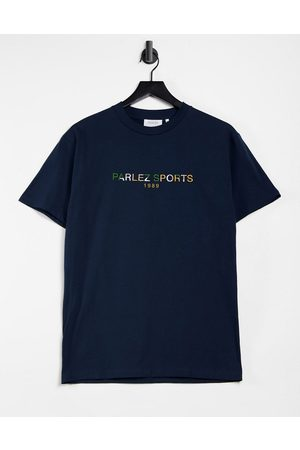 Parlez Nelson embroidered t-shirt in navy