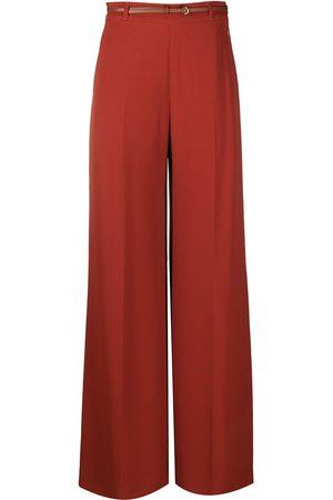 Chloé Double face crepe trousers