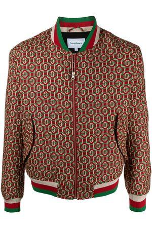 Casablanca Muži Bombery - Full jacquard bomber jacket