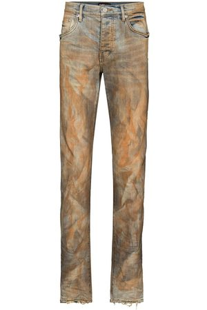 Purple Brand Muži Slim - Two-tone faded effect jeans