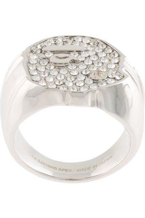 A BATHING APE® Rhinestone-embellished ring