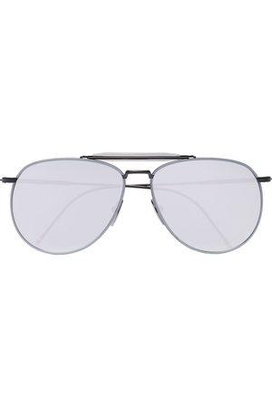 Thom Browne Muži Sluneční brýle - Metallic Silver Aviator Sunglasses