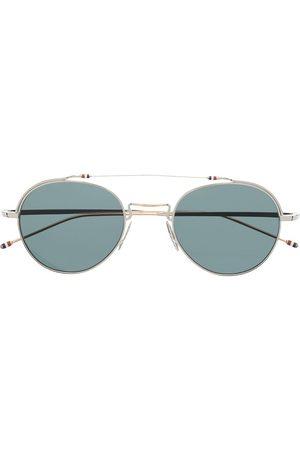 Thom Browne Aviator-frame tinted sunglasses
