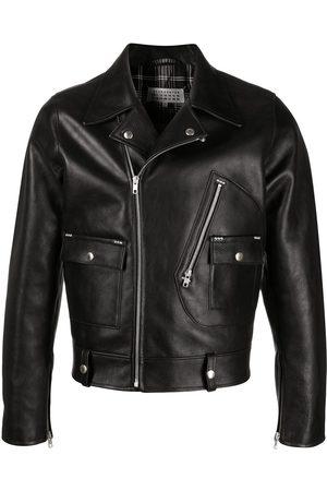 Maison Margiela Muži Kožené bundy - Notched-lapel leather jacket