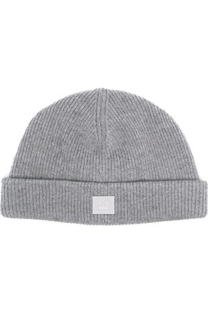 Acne Studios Čepice - Face-patch knitted beanie