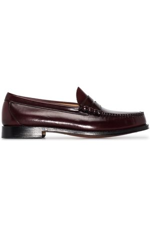 G.H. Bass Brown Weejuns Larson moc penny loafers