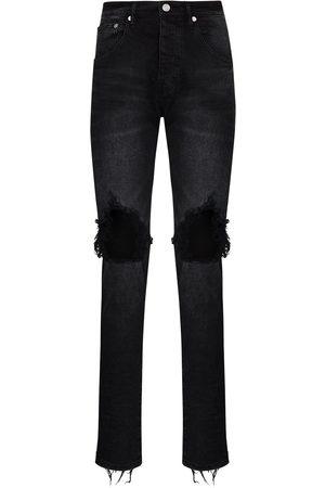 Purple Brand Wash Blowout slim leg jeans
