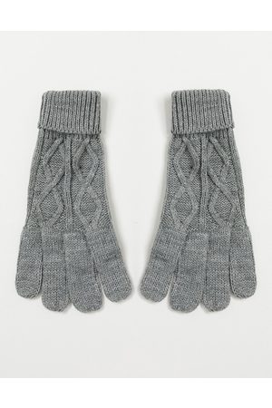 Boardmans Cable knit gloves-Grey