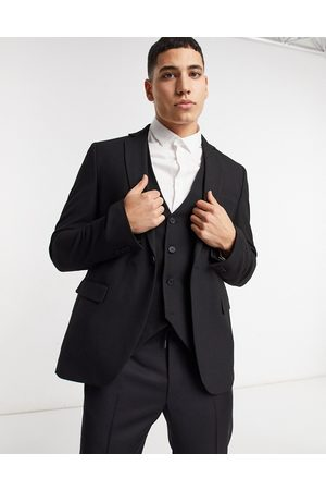 Bolongaro Muži Saka - Plain skinny suit jacket in black