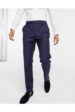 Ted Baker Marliet slim fit dinner trousers-Navy