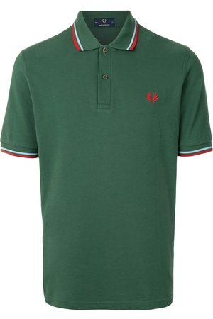 Fred Perry Stripe-trim logo polon shirt