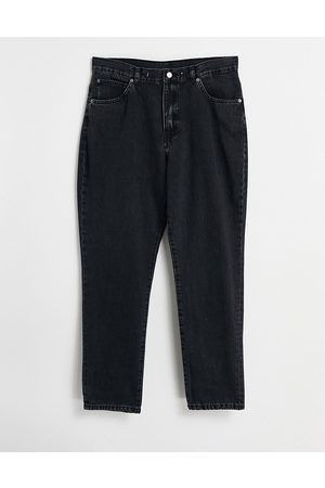 Dr Denim Nora high rise mom jeans in washed black