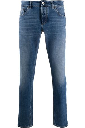 Brunello Cucinelli Muži Slim - Mid-rise slim-fit jeans