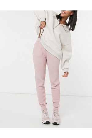 Style Cheat Waffle knit jogger co-ord in pink
