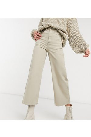 Dr Denim Aiko wide leg jeans in stone wash-Beige