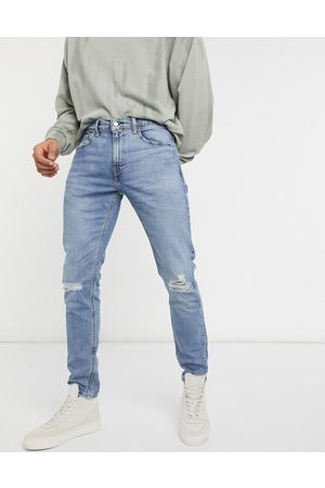 Levi's Levi's Youth 512 slim tapered lo ball distressed jeans in dolf metal advanced mid wash-Blue