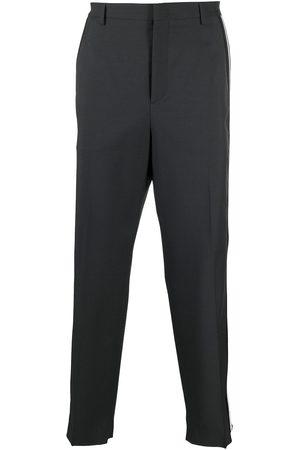 VALENTINO Side-stripe wide-leg tailored trousers