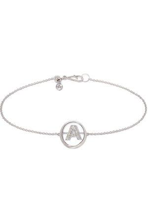 ANNOUSHKA 18kt white gold diamond Initial A bracelet