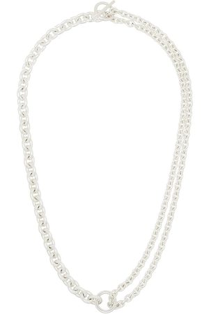 ALL BLUES Sterling silver chain-link necklace