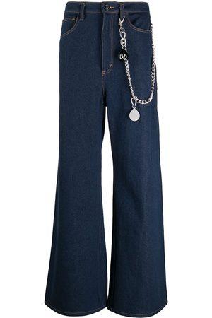 DUOltd Wide-leg chain-detail jeans