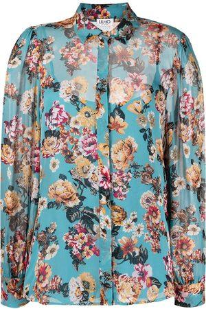 Liu Jo Floral-print long-sleeved shirt