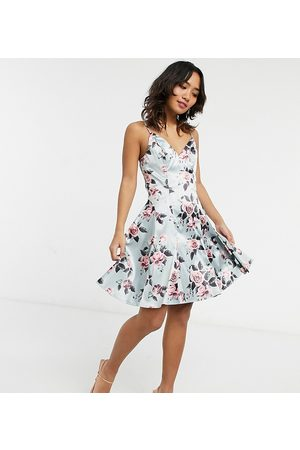 Chi Chi London Ženy Na párty - Structure mini prom in floral-Pink