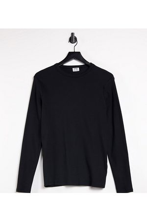 Cotton:On Plus Cotton:On Curve crew neck long sleeve tee in black
