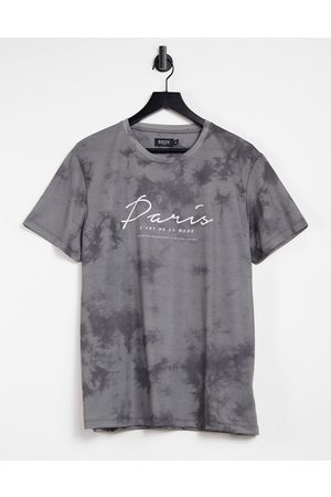 Burton Paris printed t-shirt in washed effect-Black