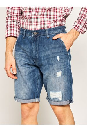Pepe Jeans Muži Šortky - Pánské modré džínové šortky