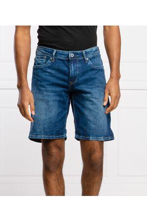 Pepe Jeans Muži Šortky - Pánské modré džínové šortky Hatch
