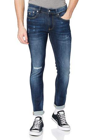 Calvin Klein Muži Kalhoty - Pánské modré džíny