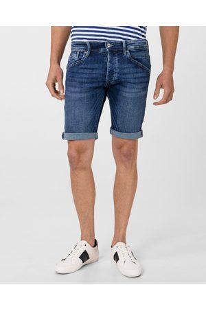 Pepe Jeans Muži Šortky - Pánské modré džínové šortky Track