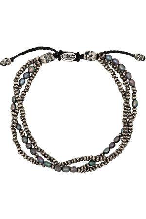 M. COHEN Tahitian pearl three-layer bracelet