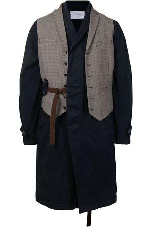 Kolor Waistcoat-detail single-breasted coat