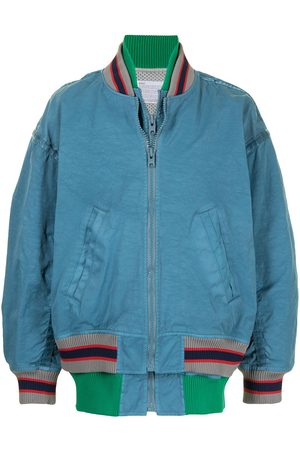 Kolor Striped rib bomber jacket