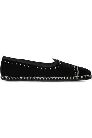 Giuseppe Zanotti Studded velvet loafers