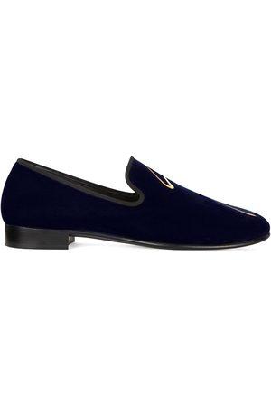 Giuseppe Zanotti G-lewis velvet loafers