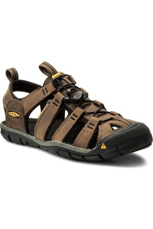 Keen Sandály - Clearwater Cnx Leather 1013106 Dark Earth/Black