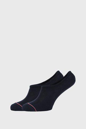 Tommy Hilfiger 2 PACK modrých nízkých ponožek Iconic