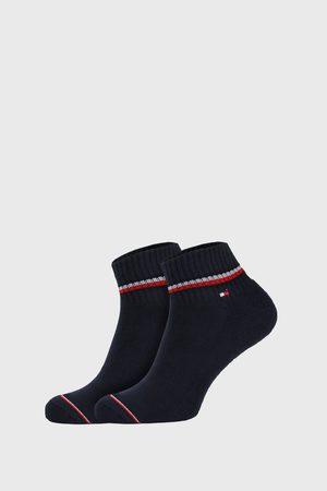 Tommy Hilfiger Ponožky - 2 PACK modrých kotníkových ponožek Iconic