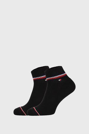 Tommy Hilfiger 2 PACK černých kotníkových ponožek Iconic